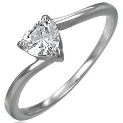 Dámský prsteň so srdiečkom