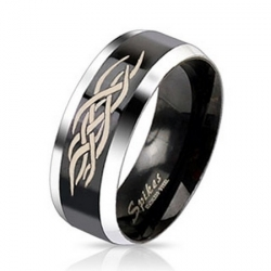 Oceľový čierny prsteň