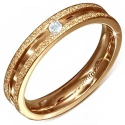 Oceľový medený prsteň